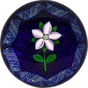 SOLD Selkirk Lampwork Wildflower Paperweight