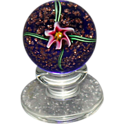 Wonderful Charles Kaziun Pedestal Lily Paperweight