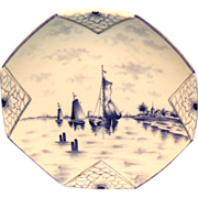 Delft Germany Folded Corners Plate - Swaine & Co.