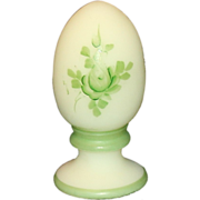 Fenton Hand Painted Custard Egg