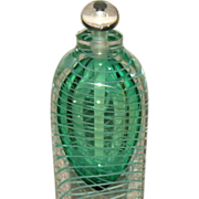 "Fabulous John Nickerson Art Glass Perfume 9"" Bottle Blenko"