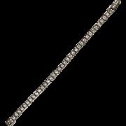Stunning Art Deco Sterling Buckle Bracelet By Otis  Sparkly White  Quality  RARE
