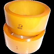 Pair Bakelite Napkin Rings