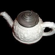 English Stoneware Teapot 1860