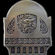 Art Nouveau Pewter Clip