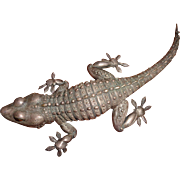 Hand-Made Sterling Silver Gecko
