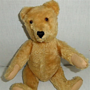 "1950's 13"" Fully Jointed Gold Mohair Steiff Bear"