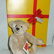 Steiff 1984 Strong Museum 32cm Cream Teddy Bear Tag 0157/32