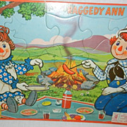Vintage Raggedy Ann Puzzle and Raggedy Andy Book