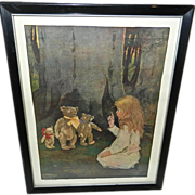1907 Print Jessie Willcox Smith Goldilocks and the Three Bears
