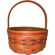 Unusual 1989 Longaberger Basket with Dark Stain