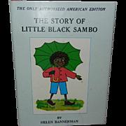 SALE Vintage Little Black Sambo Book by Helen Bannerman