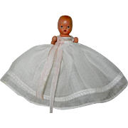 "SALE Nancy Ann Storybook Doll 3 1/2"" #70 Christening Baby Doll"