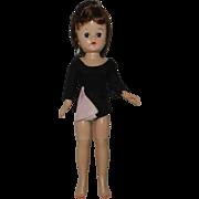 1957 Vogue Brunette Ponytail Jill Doll in Original Leotard & Tie