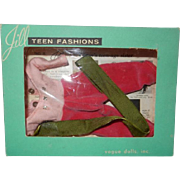 SALE PENDING 1957 Vogue Jill Toreador Outfit #7504 in Box with Paper Insert
