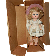 """1957 8"""" Ginger """"Fab Picture Doll"""" in Original Shipping Box"""