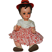 "1950-1960's 14"" Flirty Eyes Character Baby Wenicke Celluloid German Doll"