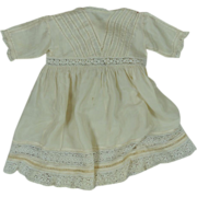 Gorgeous Vintage Ca. 1920's Silk Dress for Your Larger Bisque Head Doll