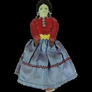"Wonderful 7"" Antique Circa 1900-1920 Native American Indian Cloth Doll"