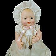 "Sweet Vintage 15"" Effanbee 1984 Reissue Vinyl Bubbles Doll All Original"