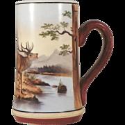 Lithophane Beer Stein.  German Porcelain.  Circa 1900.