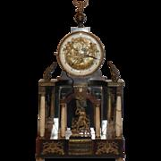 RARE Biedermeier Automaton Clock.  Circa 1810