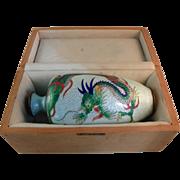 Japanese Cloisonne Vase.  Circa 1900