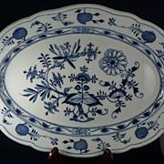 Oval Platter Meissen Blue Onion Porcelain Early 20th Century