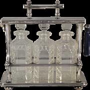 English Victorian Locking Tantalus Set