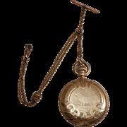 Victorian 14k Yellow Gold Waltham Hunter Case Pocket Watch 1898
