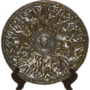 Large Silverplated Shield/Plaque. 19th Century.