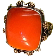 Antique Kate M.Eadie British Arts Crafts Silver Gold Carnelian c.1910