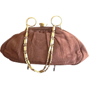 Vintage Hand Made by Edbar Silk Evening Purse with Deco Influences