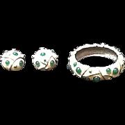 VIntage Lanvin Demi Parure:  Bracelet and Earrings