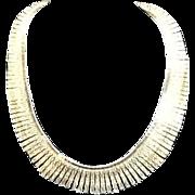 "SALE Vintage Sterling ""Cleopatra"" Bib Necklace"