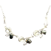 Vintage Van Dell Sterling Necklace with Hematite Stones