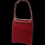 SALE Vintage DeMarly Red Leather Handbag