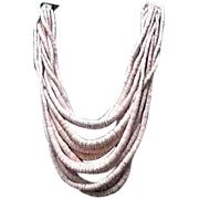 VIntage Gerda Lynggaard/Monies Pink Multi Strand Necklace with Horn CLosure
