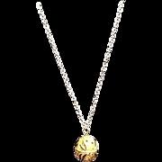 """VIntage Bejeweled and Enameled CINER """"Egg"""" Necklace"""
