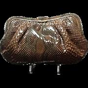VIntage Large Colombetti Python Handbag