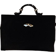 VIntage Lagerfeld Huge Velvet Attache Case/Tote/Handbag....NEVER WORN