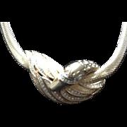 "SALE VIntage Grosse Demi Parure ""Swan"" Necklace and Earrings"