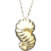 "Vintage Leiber ""Seashell"" Pendant Necklace"