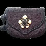 VIntage Leiber Handbag with Passementerie and Ornate Jeweled Ornamentation