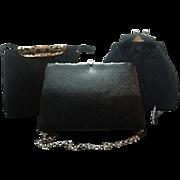 Lot of 3 Mid Century Dressy Handbags