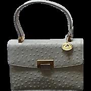 "Vintage Koret ""Ostrich Embossed"" Leather Handbag ***NEVER WORN WITH TAGS***"