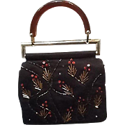 Vintage Badgley Mischka Stylized Evening Purse/Bag with Accents