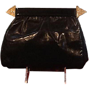 """VIntage Valentino """"Night"""" Evening Clutch with Rhinestone Accents"""