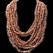 Vintage Gerda Lynggaard MONIES Horn Torsade Necklace