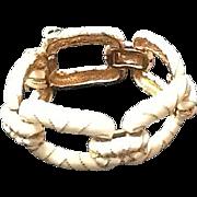 Vintage Ciner Enamel Link Chunky Bracelet